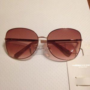NWT AE Rose Tint & Gold Sunglasses